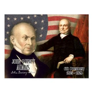 John Quincy Adams - 6. Präsident der US Postkarte