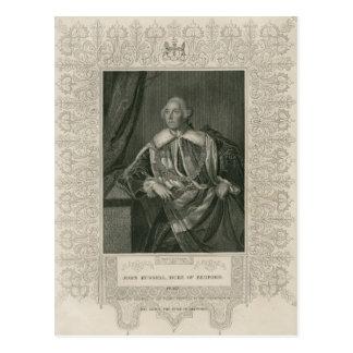 John Russell, Herzog von Bedford Postkarte