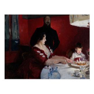 John-Sänger Sargent - das Geburtstags-Party Postkarte