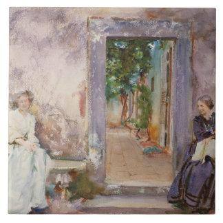 John Singer Sargent - die Garten-Wand Fliese