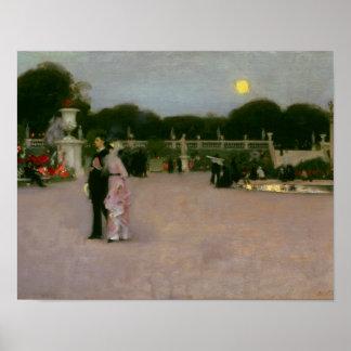 John Singer Sargent - in den Luxemburg-Gärten Poster