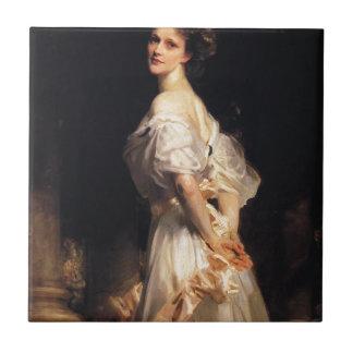 John Singer Sargent - Nancy Astor - schöne Kunst Fliese