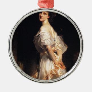 John Singer Sargent - Nancy Astor - schöne Kunst Silbernes Ornament