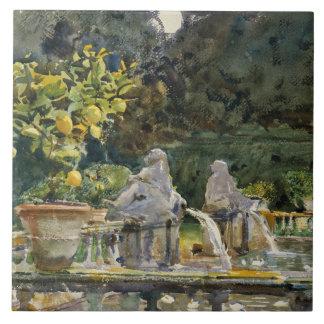 John Singer Sargent - Villa di Marlia, Lucca Keramikfliese