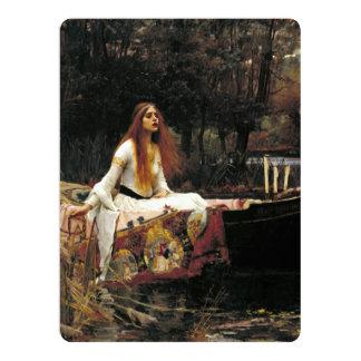 John William Waterhouse die Dame Of Shalott 16,5 X 22,2 Cm Einladungskarte