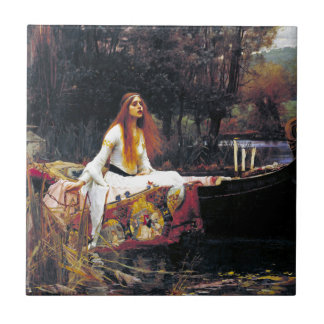 John William Waterhouse die Dame Of Shalott Keramikfliese