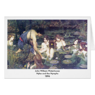 John William Waterhouse - Hylas und die Nymphen Karte