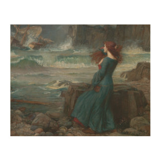 John William Waterhouse - Miranda - der Sturm Holzleinwand