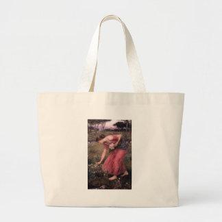 John William Waterhouse - Narzisse - schöne Kunst Jumbo Stoffbeutel