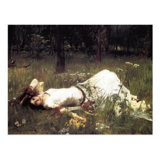 John William Waterhouse Ophelia Postkarte