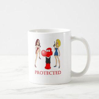 Johnny-Kondom geschützt Kaffeetasse