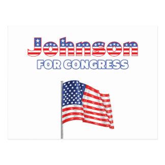 Johnson für Kongress-patriotische amerikanische Postkarte