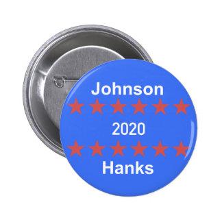 Johnson- und Kampagnen-Knopf der Knäuel-2020 Runder Button 5,1 Cm