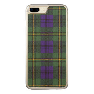 Johnston-Clan karierter schottischer Tartan Carved iPhone 8 Plus/7 Plus Hülle