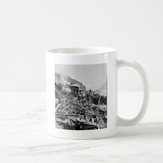 Johnstown Flut-Zug-Wrack Vintages 1889 Kaffeetasse