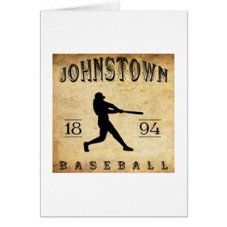 Johnstown New York Baseball 1894 Karte