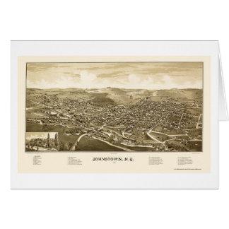 Johnstown, NY panoramische Karte - 1888