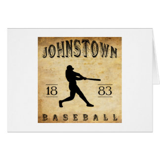 Johnstown Pennsylvania Baseball 1883 Karte