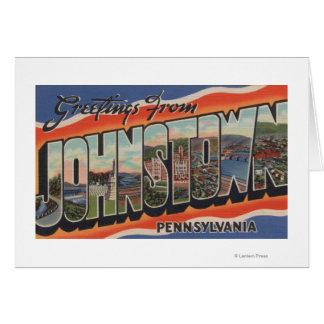 Johnstown, Pennsylvania - große Buchstabe-Szenen 2 Karte