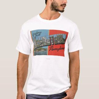 Johnstown, Pennsylvania - große Buchstabe-Szenen T-Shirt
