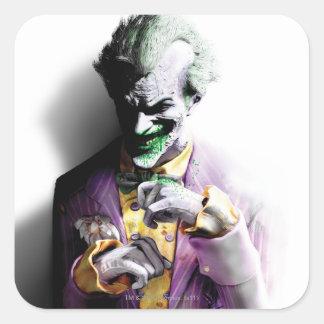 Joker Quadratischer Aufkleber