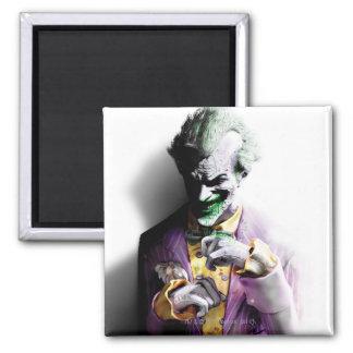 Joker Batman Arkham Stadt-| Quadratischer Magnet