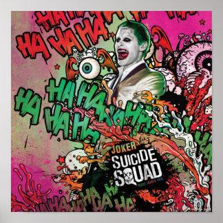 Joker-CharakterGraffiti der Selbstmord-Gruppe-| Poster