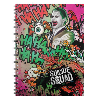 Joker-CharakterGraffiti der Selbstmord-Gruppe-  Spiral Notizblock