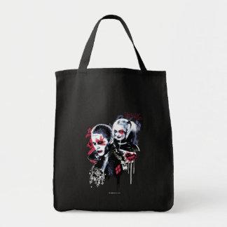 Joker der Selbstmord-Gruppe-| u. Harley gemalter Tragetasche