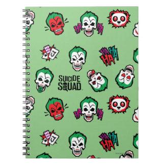 Joker Emoji Muster der Selbstmord-Gruppe-  Notizblock