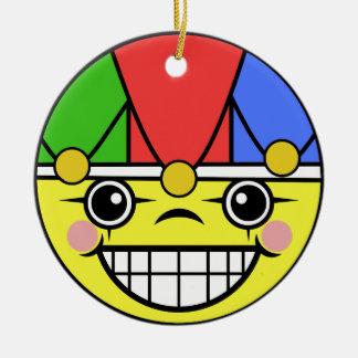 Joker-Gesicht Keramik Ornament
