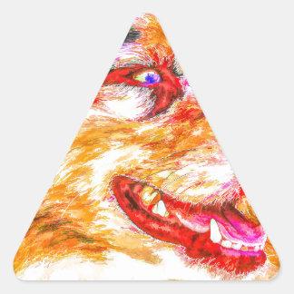 Joker-Junge Dreieckiger Aufkleber