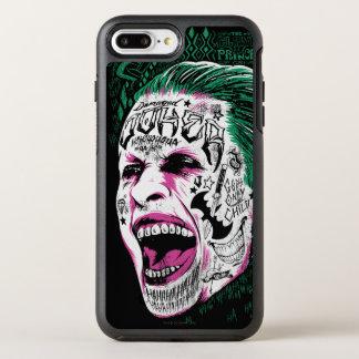 Joker-Kopf-Skizze der Selbstmord-Gruppe-| lachende OtterBox Symmetry iPhone 7 Plus Hülle