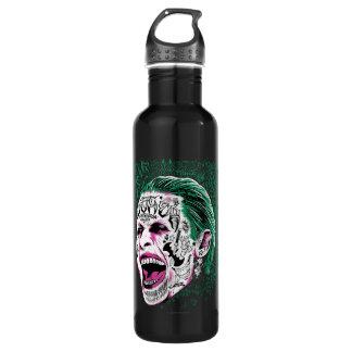 Joker-Kopf-Skizze der Selbstmord-Gruppe-| lachende Trinkflasche