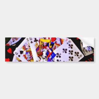 Joker-Poker Autoaufkleber