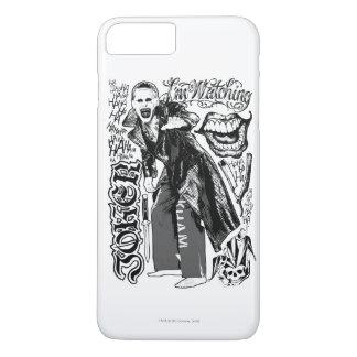 Joker-Typografie-Foto der Selbstmord-Gruppe-| iPhone 8 Plus/7 Plus Hülle
