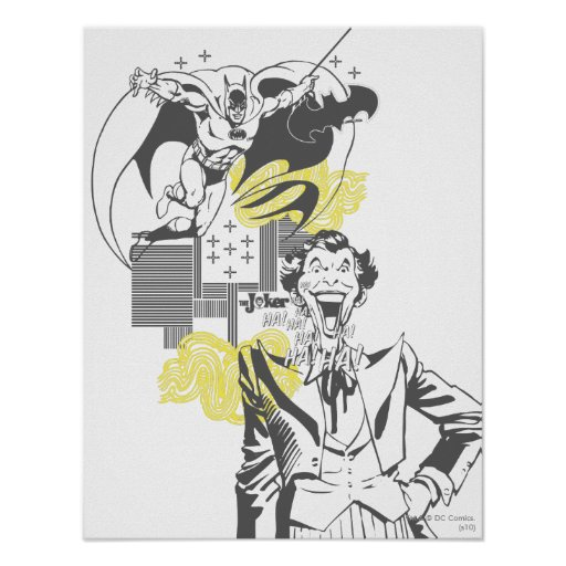 Joker-und Batman-Comic-Collage Plakatdrucke