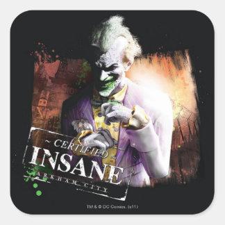 Joker - zugelassenes geisteskrankes Quadrat-Aufkleber