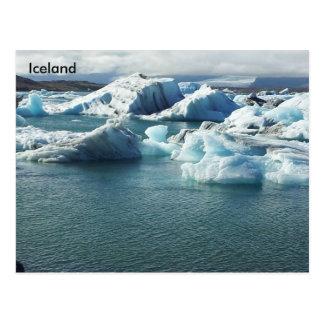 Jökulsárlón Gletscher-Lagune, Südostisland Postkarte