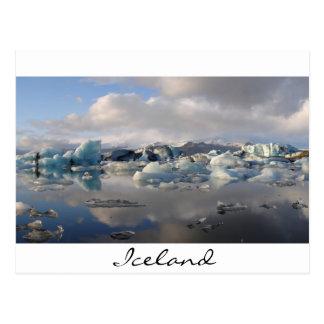 Jokulsarlon Gletschersee in Island Postkarte