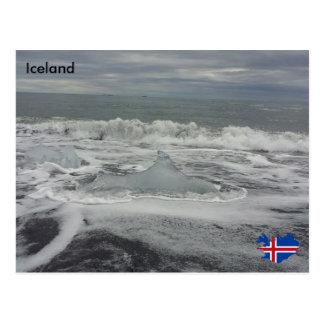 Jökulsárlón, Island Postkarte