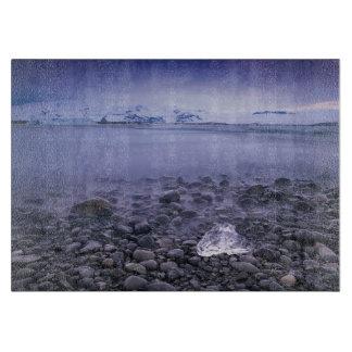 Jökulsárlón Lagune-Glasschneiden-Brett Schneidebrett