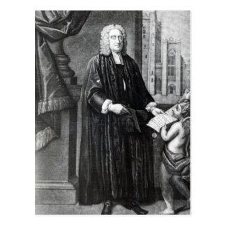 Jonathan Swift, graviert von Andrew Miller, 1743 Postkarte