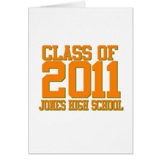 Jones-High-School-Klasse von 2011 Karte