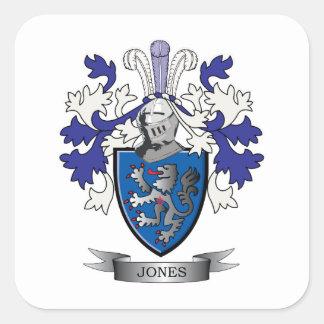 Jones-Wappen Quadratischer Aufkleber