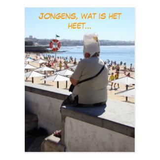 Jongens, zo heet (Holländer Nederlands) lustig Postkarte