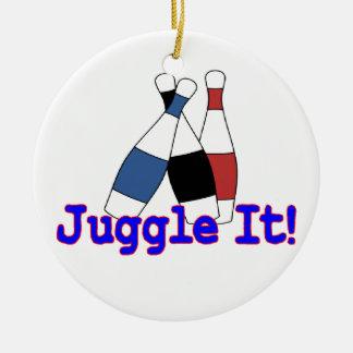 Jonglieren Sie es Jongleur Keramik Ornament
