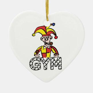 Jonglieren Sie Turnhalle Keramik Herz-Ornament