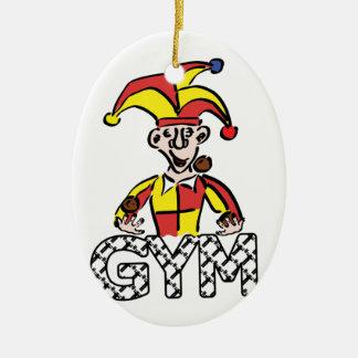 Jonglieren Sie Turnhalle Ovales Keramik Ornament