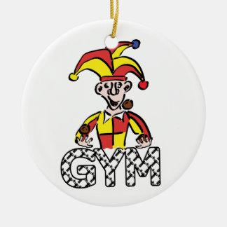 Jonglieren Sie Turnhalle Rundes Keramik Ornament